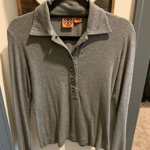 Tory Burch Grey Long Sleeve Button Down - Size S